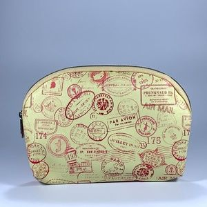 Ipsy Postage Markings Zip Make-up Bag